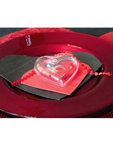 1 Coeur Plastique Transparent 8cm-10