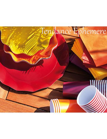 5 Assiette Carton Corolle 27cm - 12 Coloris