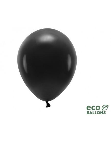 1 100 ballons Latex Biodégradables Noir 26cm