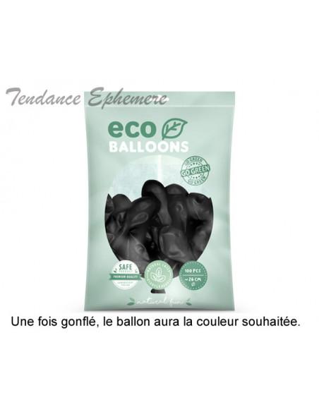 2 100 ballons Latex Biodégradables Noir 26cm
