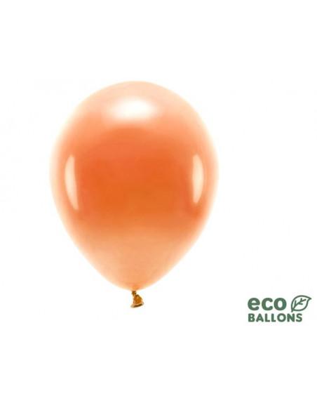 1 100 ballons Latex Biodégradables Orange 26cm