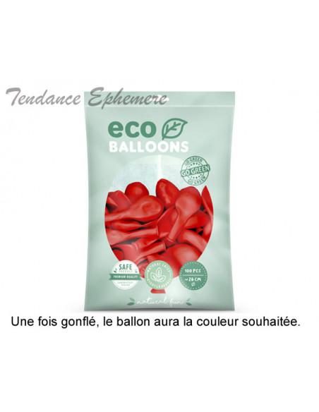 2 100 ballons Latex Biodégradables Rouge 26cm