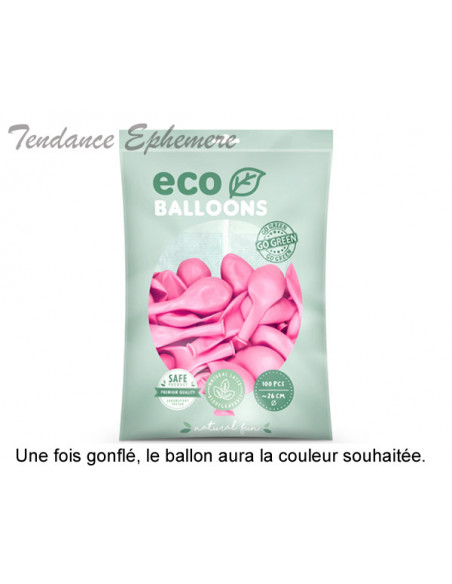 2 100 ballons Latex Biodégradables Rose Pastel 26cm