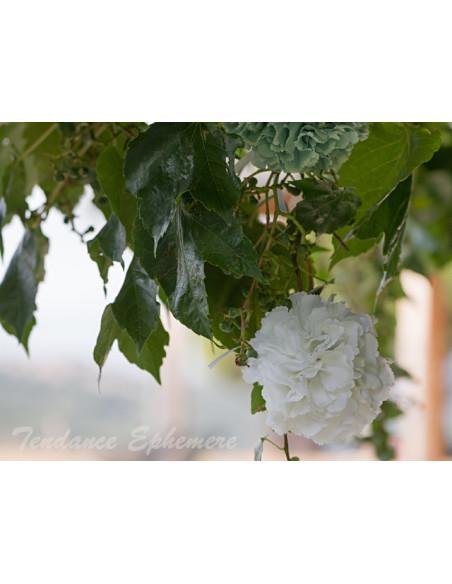 1 Boule de Fleurs Blanches 17cm