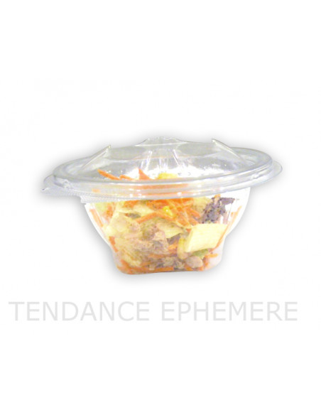 1 Bol Salade Rond Couvercle Charnière 500g -75