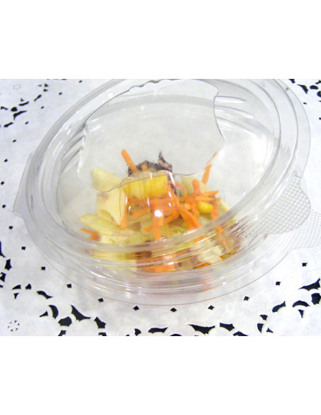 2 Bol Salade Rond Couvercle Charnière 500g -75