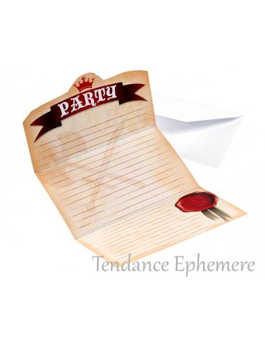 1 Carte Invitation Anniversaire Chevalier