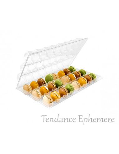1 Blister 24 Macarons Couvercle Charnière-Unité