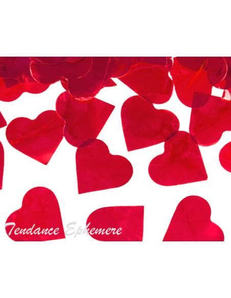 2 Canon à Confettis Coeur Rouge 60cm