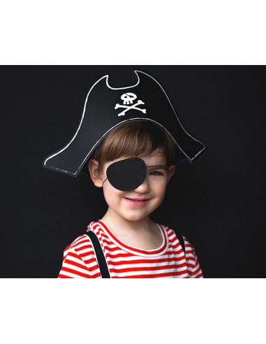 1 Chapeau et ?il de Pirate Carton