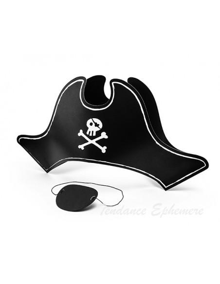 2 Chapeau et ?il de Pirate Carton