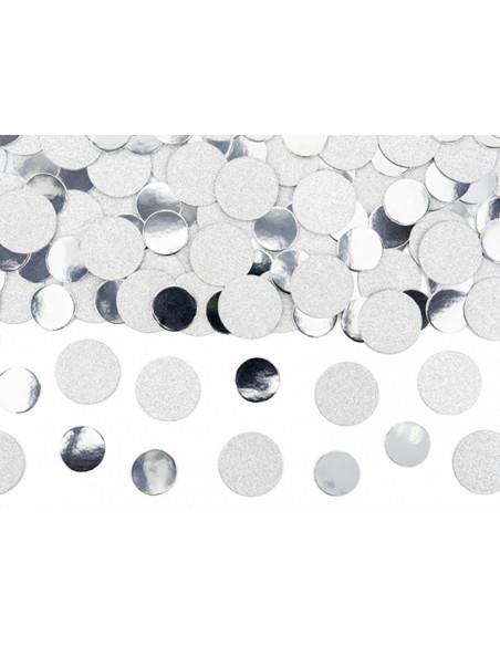 2 Confetti de Table Argent et Paillettes