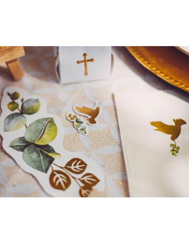 1 Confetti de Table Communion Eucalyptus Colombes