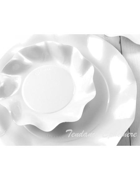 2 Coupelle Corolle Blanc Perlé 18.5cm