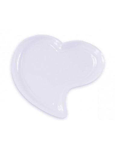 1 Assiette Plastique Coeur Blanche 31cm
