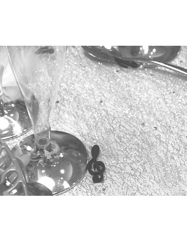 1 Chemin de Table Glitter Argent 5m