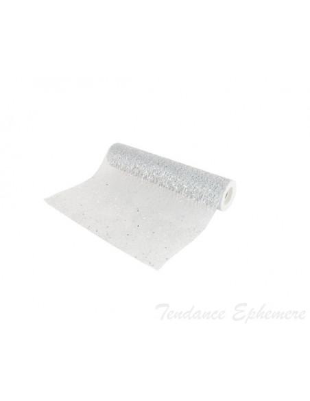 3 Chemin de Table Glitter Argent 5m