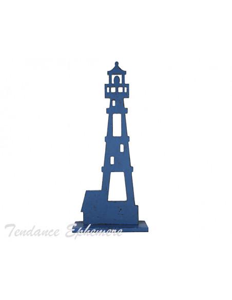 2 Phare Bois Bleu 38,5cm
