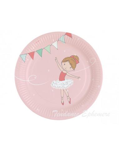 1 Assiette Carton Petite Danseuse 23cm