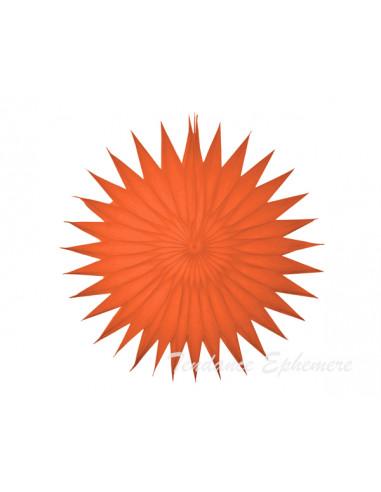 1 Rosace Papier Soleil Orange 35cm
