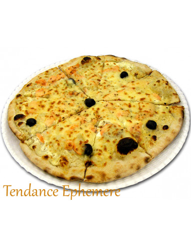 1 Assiette Carton Pizza Blanc 33cm - 10