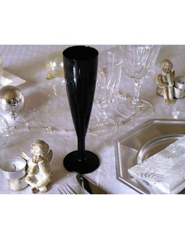 1 Flûte à Champagne Plastique Noire 13cl-6