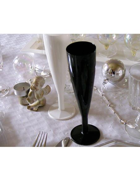 2 Flûte à Champagne Plastique Noire 13cl-6