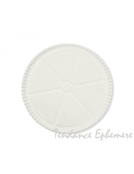 2 Assiette Carton Pizza Blanc 33cm - 10