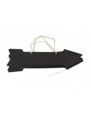 1 3 Flèches Signalétiques Carton Ardoise 41cm
