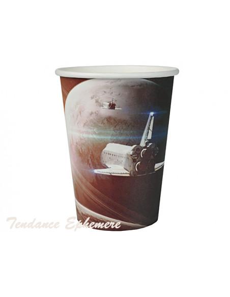 3 Gobelet Carton Astronaute 25cl