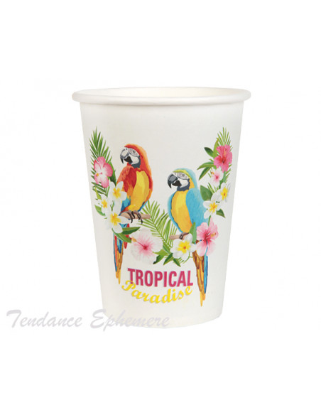 2 Gobelet Carton Tropical
