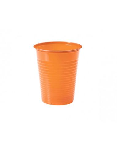 1 Gobelet Plastique Orange 20cl - 50