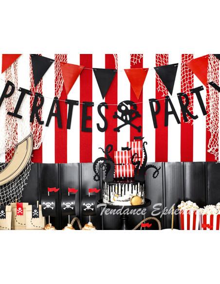 1 Guirlande Pirate Party Noir 1m