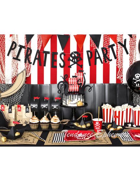 2 Guirlande Pirate Party Noir 1m