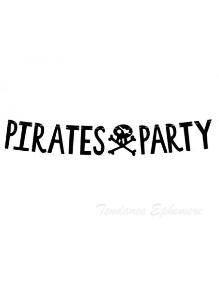 3 Guirlande Pirate Party Noir 1m