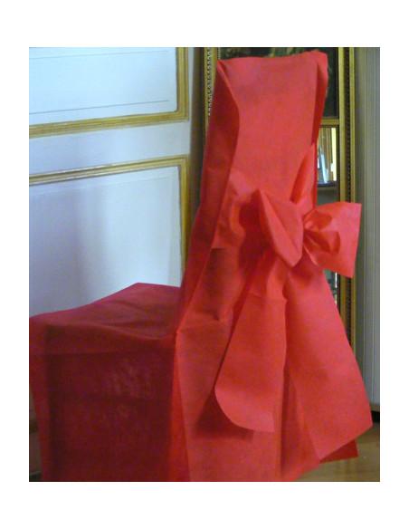 2 Housse de Chaise Mariage Avec Noeud - 6 Coloris