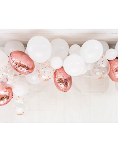 1 Kit Arche Ballons Blanc Rose Gold