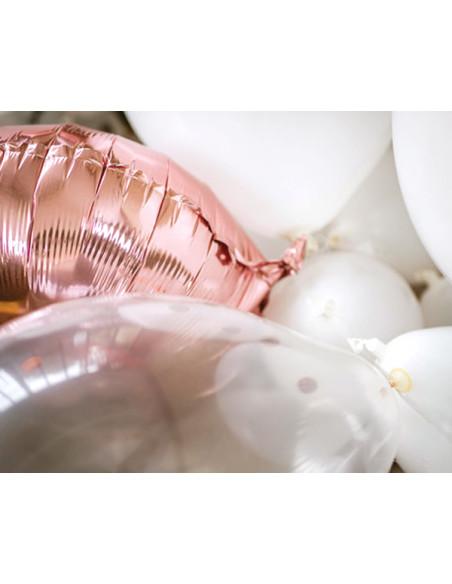 2 Kit Arche Ballons Blanc Rose Gold