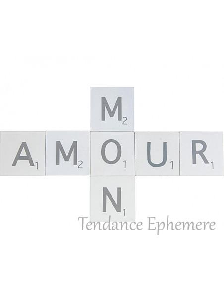 2 Lettres Bois Mon Amour