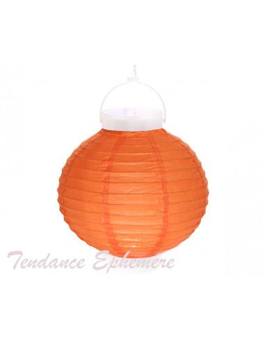 1 Lampion Lumineux Orange 20cm