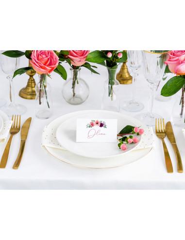 1 Marque Place Chevalet Bouquet Fleurs