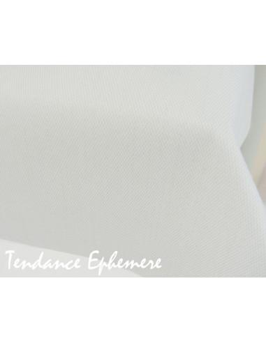 1 Nappe Effet Tissu Blanc 25m