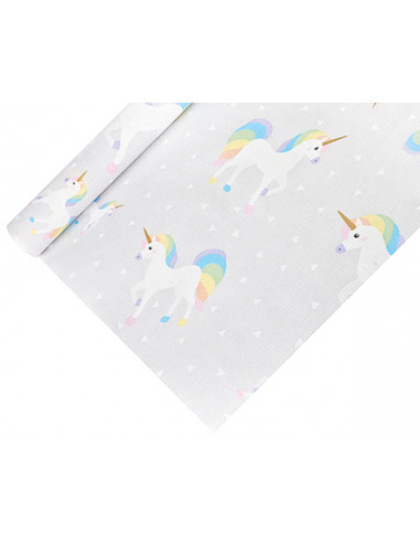 1 Nappe Papier Laqué Licorne 1,20m