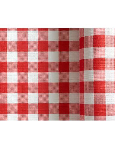 1 Nappe Papier Vichy Rouge 25m