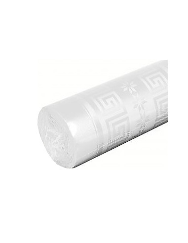 1 Nappe Damassée Blanc 10m