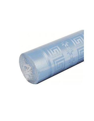 1 Nappe Damassée Bleu Pastel 6m