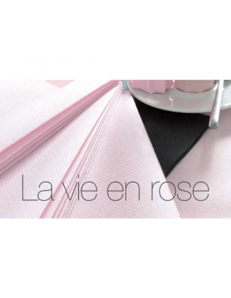 2 Nappe Papier Intissé Rose Poudré 10m