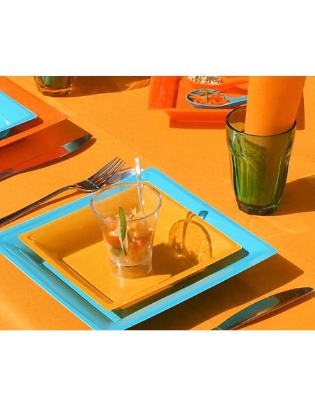 1 Nappe Papier Intissé Orange Vif 10m