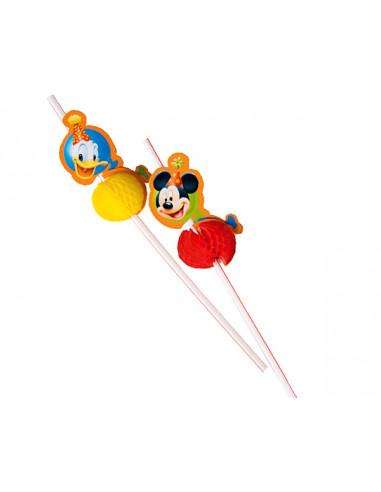 1 Paille Médaillon Mickey