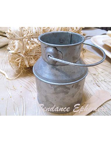 1 Pot à Lait Métal Avec Anse 9cm